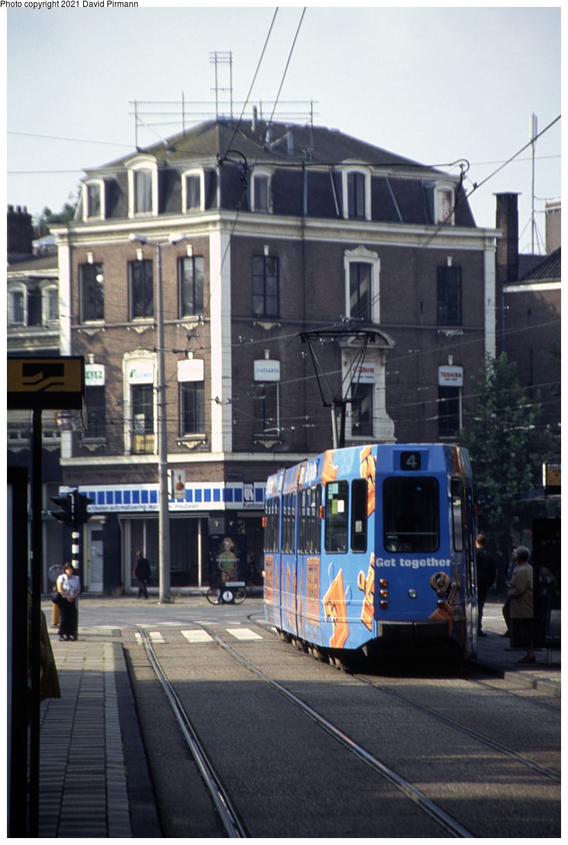 (407k, 820x1220)<br><b>Country:</b> The Netherlands<br><b>City:</b> Amsterdam<br><b>System:</b> GVB (Gemeente Vervoerbedrijf)<br><b>Location:</b> Fredriksplein<br><b>Route:</b> 4<br><b>Car:</b> Type 9G 782 <br><b>Photo by:</b> David Pirmann<br><b>Date:</b> 8/26/1999<br><b>Viewed (this week/total):</b> 5 / 8