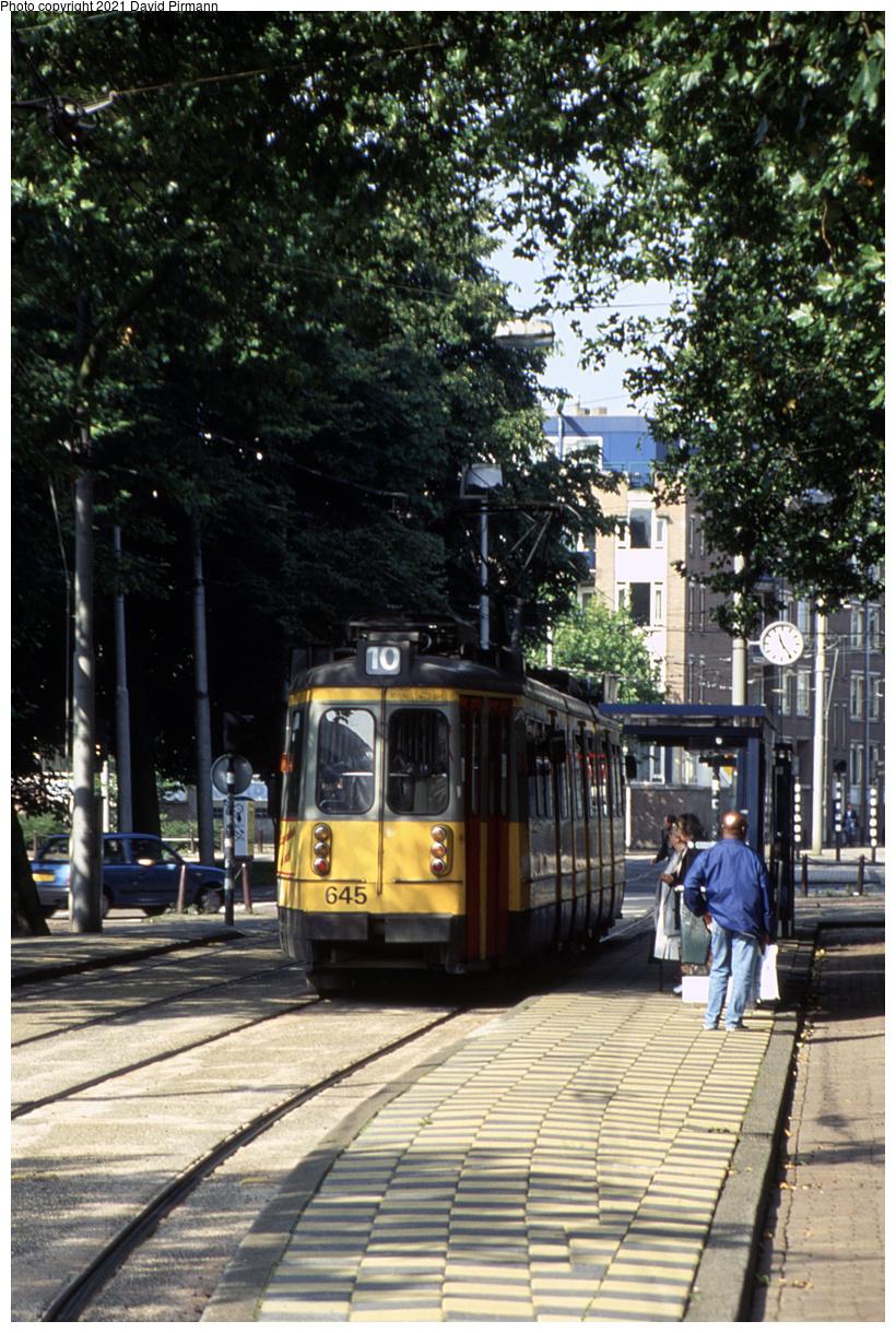 (597k, 820x1220)<br><b>Country:</b> The Netherlands<br><b>City:</b> Amsterdam<br><b>System:</b> GVB (Gemeente Vervoerbedrijf)<br><b>Location:</b> Vijzelgracht<br><b>Route:</b> 10<br><b>Car:</b> Type 4G 645 <br><b>Photo by:</b> David Pirmann<br><b>Date:</b> 8/26/1999<br><b>Viewed (this week/total):</b> 1 / 11