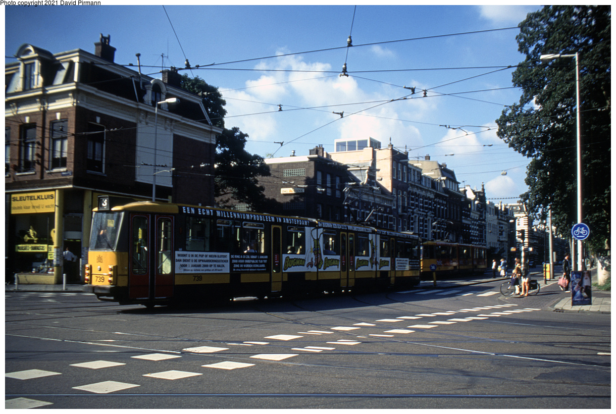 (516k, 1220x820)<br><b>Country:</b> The Netherlands<br><b>City:</b> Amsterdam<br><b>System:</b> GVB (Gemeente Vervoerbedrijf)<br><b>Location:</b> Linnaeusstraat<br><b>Route:</b> 3<br><b>Car:</b> Type 8G 739 <br><b>Photo by:</b> David Pirmann<br><b>Date:</b> 8/28/1999<br><b>Viewed (this week/total):</b> 5 / 8