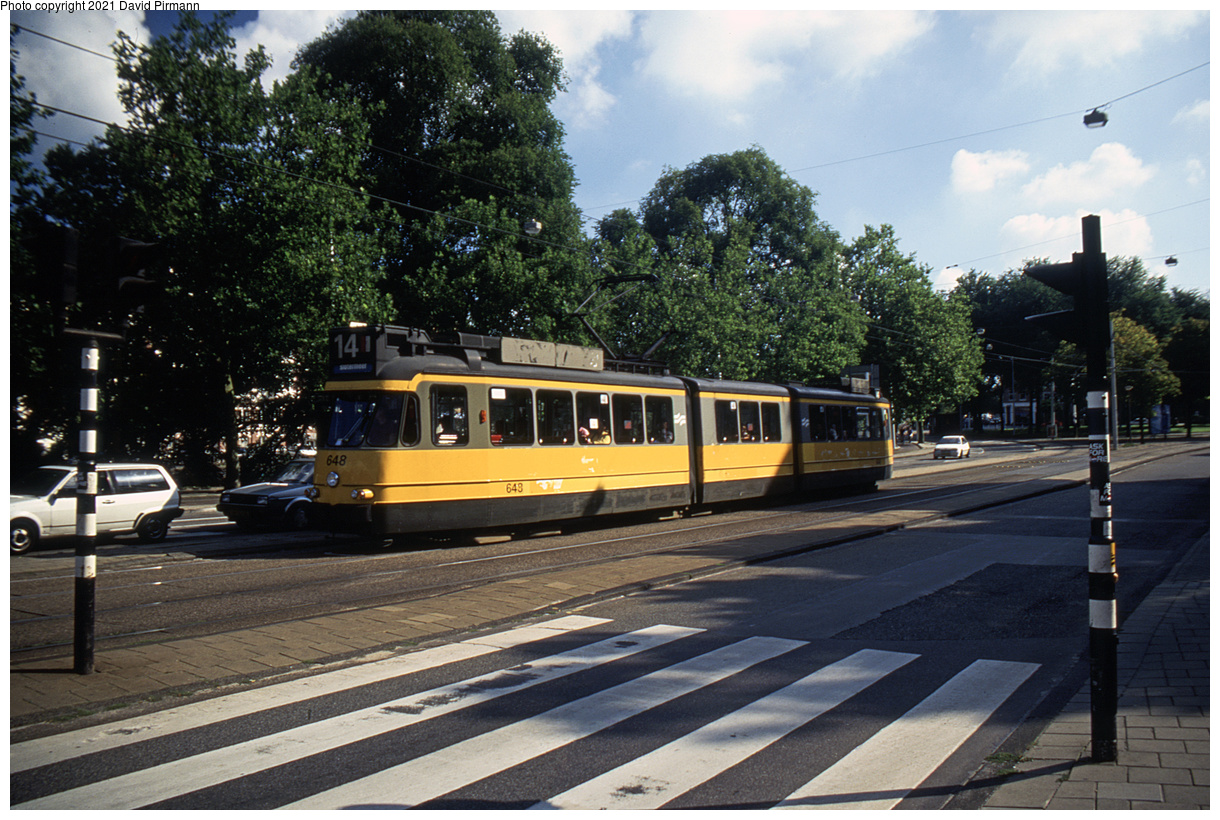 (552k, 1220x820)<br><b>Country:</b> The Netherlands<br><b>City:</b> Amsterdam<br><b>System:</b> GVB (Gemeente Vervoerbedrijf)<br><b>Location:</b> Linnaeusstraat<br><b>Route:</b> 14<br><b>Car:</b> Type 4G 648 <br><b>Photo by:</b> David Pirmann<br><b>Date:</b> 8/28/1999<br><b>Viewed (this week/total):</b> 2 / 10
