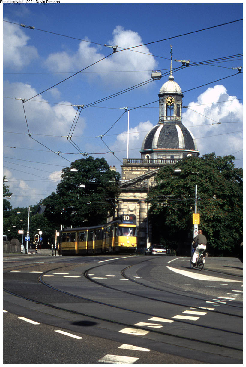 (491k, 820x1220)<br><b>Country:</b> The Netherlands<br><b>City:</b> Amsterdam<br><b>System:</b> GVB (Gemeente Vervoerbedrijf)<br><b>Location:</b> Mauritskade & Tropenmuseum<br><b>Route:</b> 10<br><b>Car:</b> Type 7G 708 <br><b>Photo by:</b> David Pirmann<br><b>Date:</b> 8/28/1999<br><b>Viewed (this week/total):</b> 5 / 8