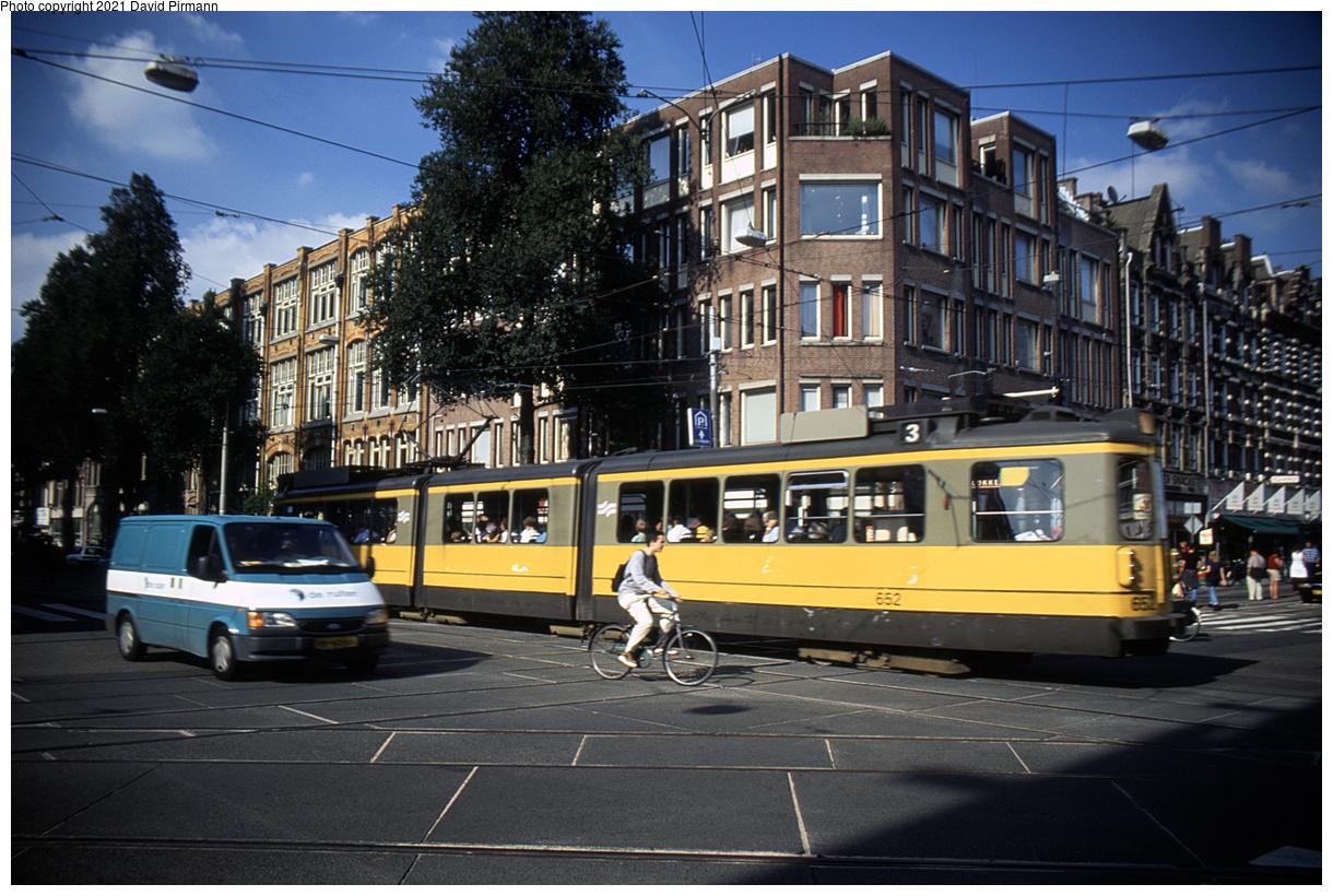 (525k, 1220x820)<br><b>Country:</b> The Netherlands<br><b>City:</b> Amsterdam<br><b>System:</b> GVB (Gemeente Vervoerbedrijf)<br><b>Location:</b> Bilderdijkstraat<br><b>Route:</b> 3<br><b>Car:</b> Type 4G 652 <br><b>Photo by:</b> David Pirmann<br><b>Date:</b> 8/28/1999<br><b>Viewed (this week/total):</b> 2 / 12