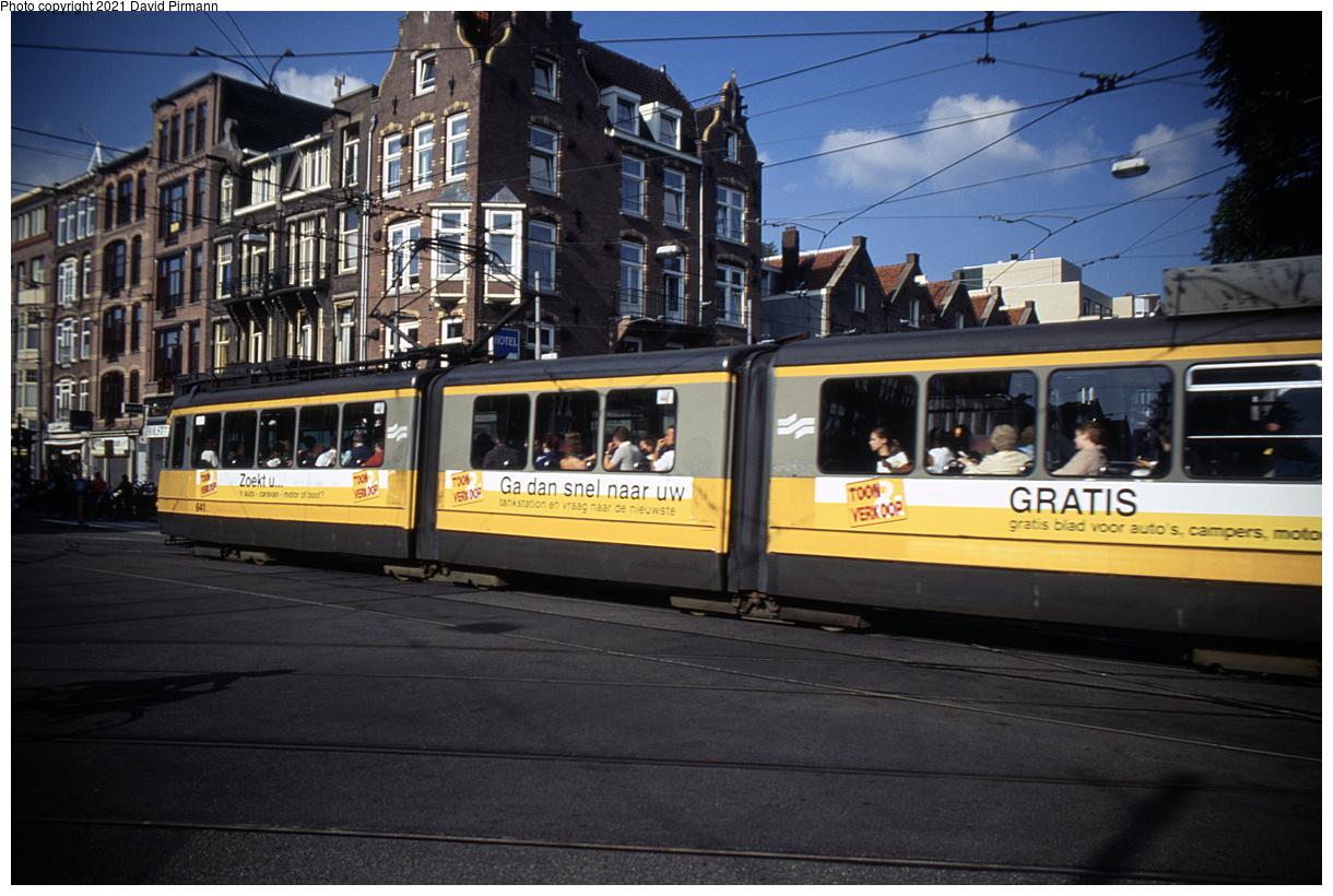 (464k, 1220x820)<br><b>Country:</b> The Netherlands<br><b>City:</b> Amsterdam<br><b>System:</b> GVB (Gemeente Vervoerbedrijf)<br><b>Location:</b> C. Huygensstraat & Overtoom<br><b>Car:</b> Type 4G 641 <br><b>Photo by:</b> David Pirmann<br><b>Date:</b> 8/28/1999<br><b>Viewed (this week/total):</b> 6 / 10
