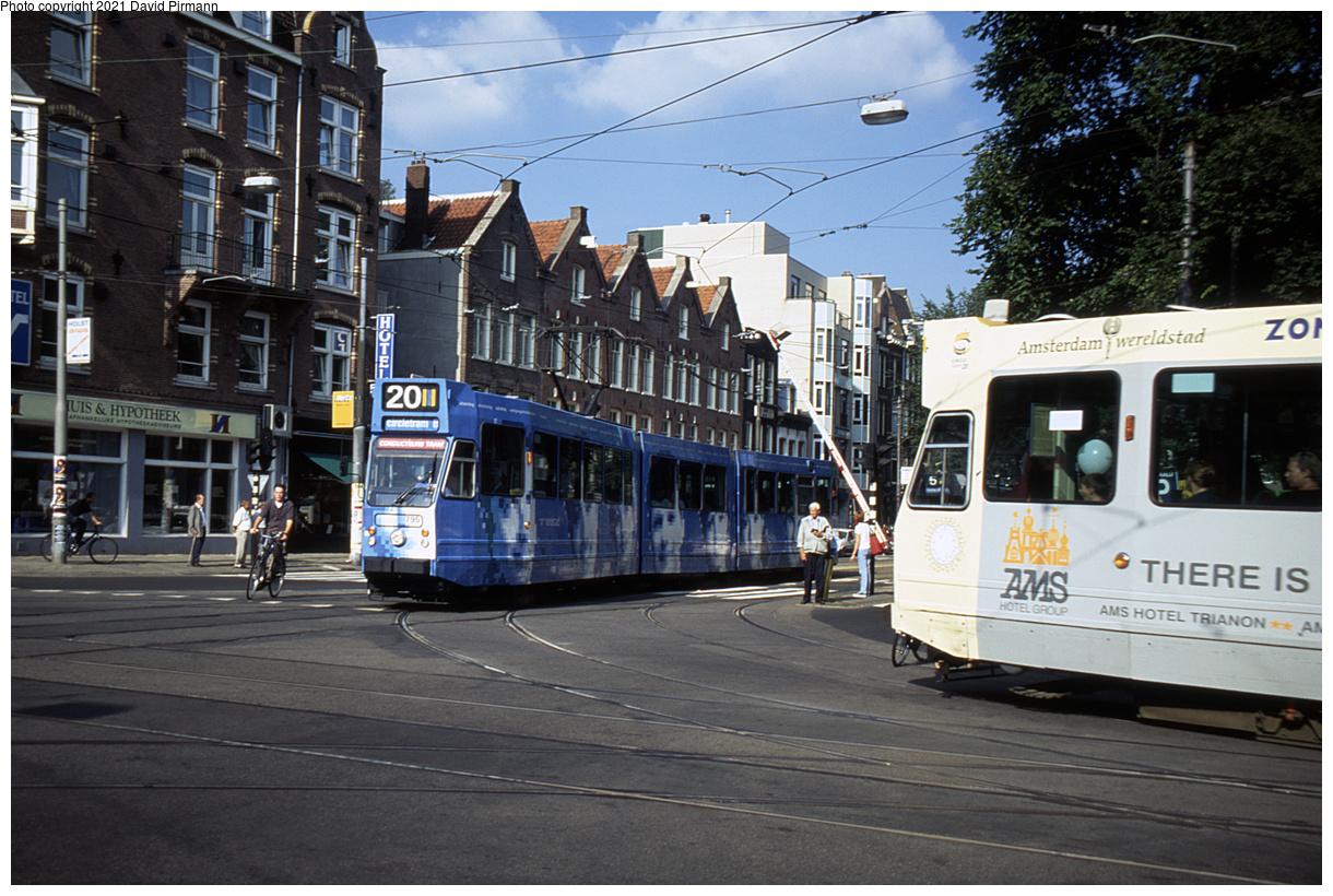 (527k, 1220x820)<br><b>Country:</b> The Netherlands<br><b>City:</b> Amsterdam<br><b>System:</b> GVB (Gemeente Vervoerbedrijf)<br><b>Location:</b> C. Huygensstraat & Overtoom<br><b>Route:</b> 20<br><b>Car:</b> Type 9G 795 <br><b>Photo by:</b> David Pirmann<br><b>Date:</b> 8/28/1999<br><b>Viewed (this week/total):</b> 4 / 9