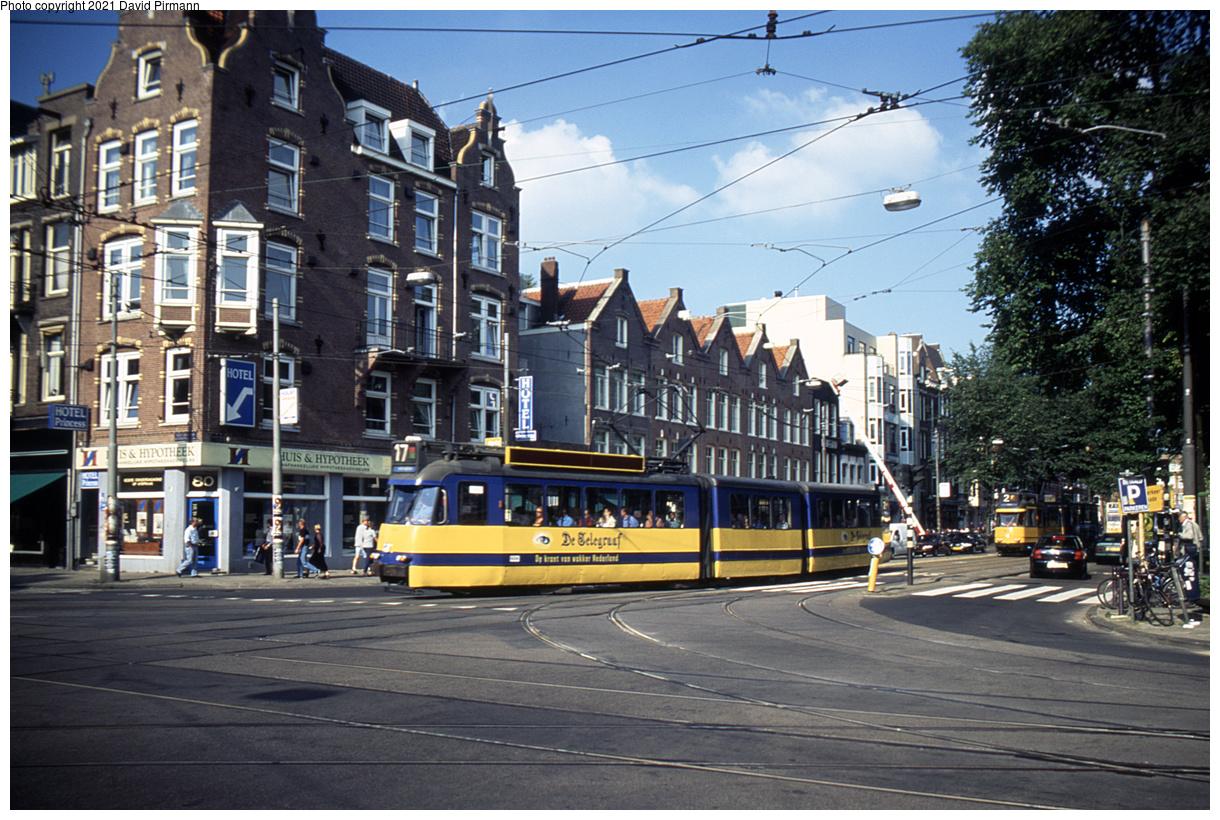 (571k, 1220x820)<br><b>Country:</b> The Netherlands<br><b>City:</b> Amsterdam<br><b>System:</b> GVB (Gemeente Vervoerbedrijf)<br><b>Location:</b> C. Huygensstraat & Overtoom<br><b>Route:</b> 17<br><b>Car:</b> Type 3G 614 <br><b>Photo by:</b> David Pirmann<br><b>Date:</b> 8/28/1999<br><b>Viewed (this week/total):</b> 6 / 10