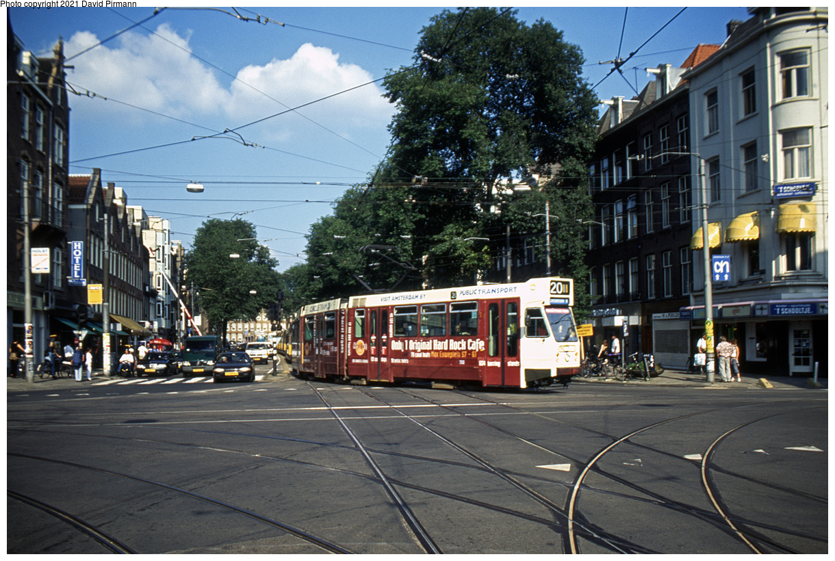 (557k, 1220x820)<br><b>Country:</b> The Netherlands<br><b>City:</b> Amsterdam<br><b>System:</b> GVB (Gemeente Vervoerbedrijf)<br><b>Location:</b> C. Huygensstraat & Overtoom<br><b>Route:</b> 20<br><b>Car:</b> Type 9G 798 <br><b>Photo by:</b> David Pirmann<br><b>Date:</b> 8/28/1999<br><b>Viewed (this week/total):</b> 5 / 8