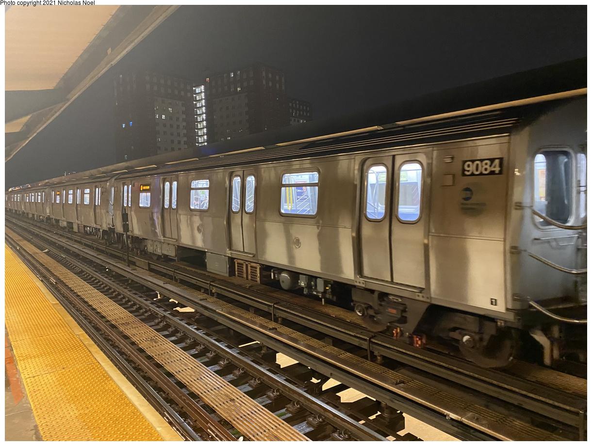 (408k, 1220x920)<br><b>Country:</b> United States<br><b>City:</b> New York<br><b>System:</b> New York City Transit<br><b>Line:</b> BMT Brighton Line<br><b>Location:</b> West 8th Street<br><b>Route:</b> Q<br><b>Car:</b> R-160B (Option 1) (Kawasaki, 2008-2009) 9094 <br><b>Photo by:</b> Nicholas Noel<br><b>Date:</b> 12/5/2020<br><b>Viewed (this week/total):</b> 13 / 104