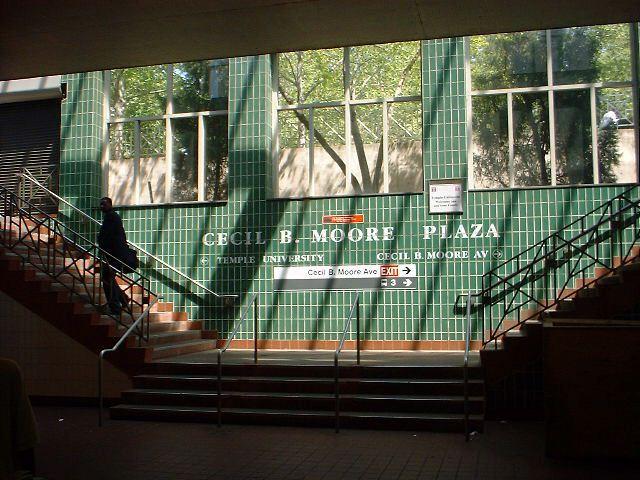 (76k, 640x480)<br><b>Country:</b> United States<br><b>City:</b> Philadelphia, PA<br><b>System:</b> SEPTA (or Predecessor)<br><b>Line:</b> Broad Street Subway<br><b>Location:</b> Cecil B. Moore <br><b>Photo by:</b> Peggy Darlington<br><b>Date:</b> 5/2000<br><b>Viewed (this week/total):</b> 2 / 4037
