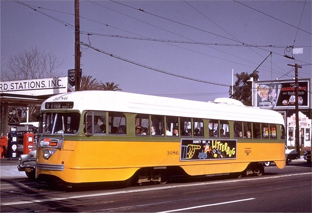 (204k, 1024x699)<br><b>Country:</b> United States<br><b>City:</b> Los Angeles, CA<br><b>System:</b> LARY/LATL/PE/LAMTA <br><b>Car:</b> PCC  3086 <br><b>Collection of:</b> Joe Testagrose<br><b>Date:</b> 4/9/1958<br><b>Notes:</b> Rt V at Pico & Westmorland<br><b>Viewed (this week/total):</b> 1 / 1651