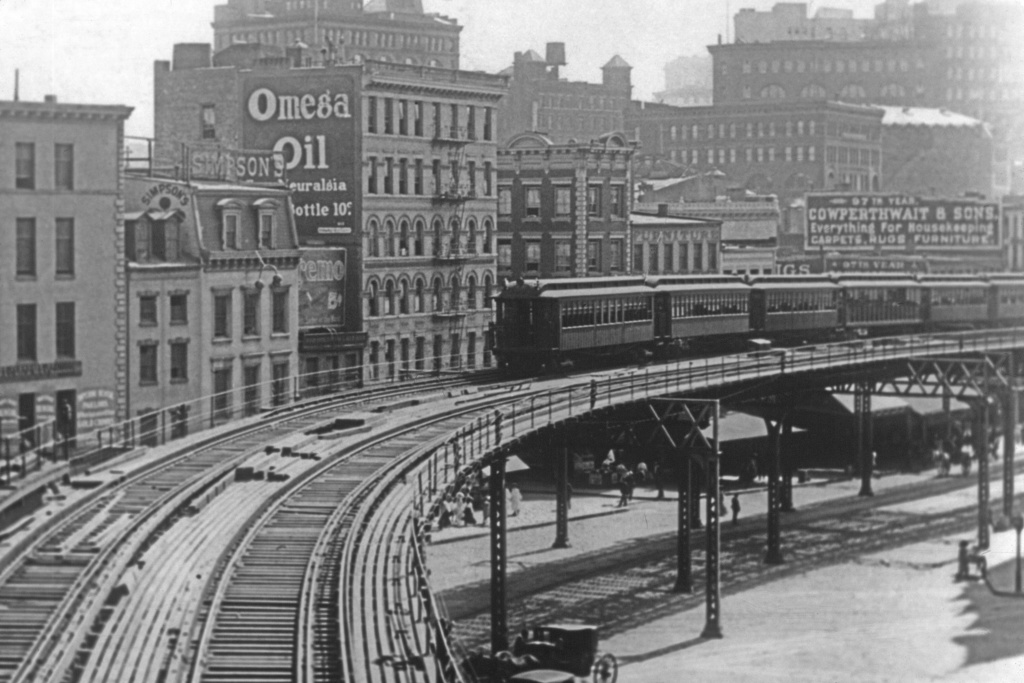 (231k, 1024x683)<br><b>Country:</b> United States<br><b>City:</b> New York<br><b>System:</b> New York City Transit<br><b>Line:</b> 3rd Avenue El<br><b>Location:</b> Chatham Square <br><b>Collection of:</b> David Pirmann<br><b>Viewed (this week/total):</b> 4 / 4376