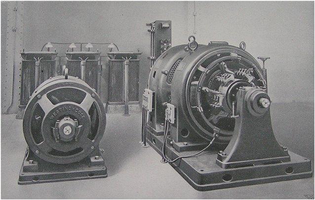 (65k, 638x406)<br><b>Country:</b> United States<br><b>City:</b> New York<br><b>System:</b> New York City Transit<br><b>Location:</b> Interborough Subway<br><b>Photo by:</b> IRT Company<br><b>Date:</b> 1904<br><b>Notes:</b> Motor-Generator Set Supplying Alternating Current For Block Signals and Motor-Generator Starting Set<br><b>Viewed (this week/total):</b> 6 / 5677