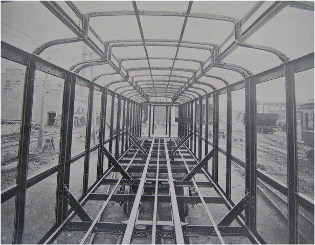 (75k, 616x479)<br><b>Country:</b> United States<br><b>City:</b> New York<br><b>System:</b> New York City Transit<br><b>Location:</b> Interborough Subway<br><b>Photo by:</b> IRT Company<br><b>Notes:</b> Interior View - Skeleton Framing of Steel Car<br><b>Viewed (this week/total):</b> 0 / 4499