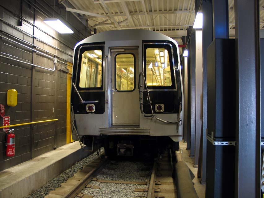 (96k, 853x640)<br><b>Country:</b> United States<br><b>City:</b> New York<br><b>System:</b> New York City Transit<br><b>Location:</b> Coney Island Yard-Training Facilities<br><b>Car:</b> R-110B (Bombardier, 1992) 3004 <br><b>Photo by:</b> Michael Pompili<br><b>Date:</b> 8/3/2004<br><b>Notes:</b> At Coney Island firefighter training school.<br><b>Viewed (this week/total):</b> 7 / 7065