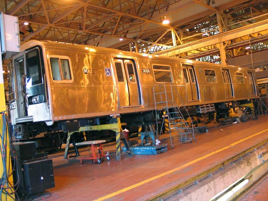 (111k, 853x640)<br><b>Country:</b> United States<br><b>City:</b> New York<br><b>System:</b> New York City Transit<br><b>Location:</b> Coney Island Shop/Overhaul & Repair Shop<br><b>Car:</b> R-110B (Bombardier, 1992) 3006 <br><b>Photo by:</b> Michael Pompili<br><b>Date:</b> 6/29/2004<br><b>Viewed (this week/total):</b> 4 / 5414