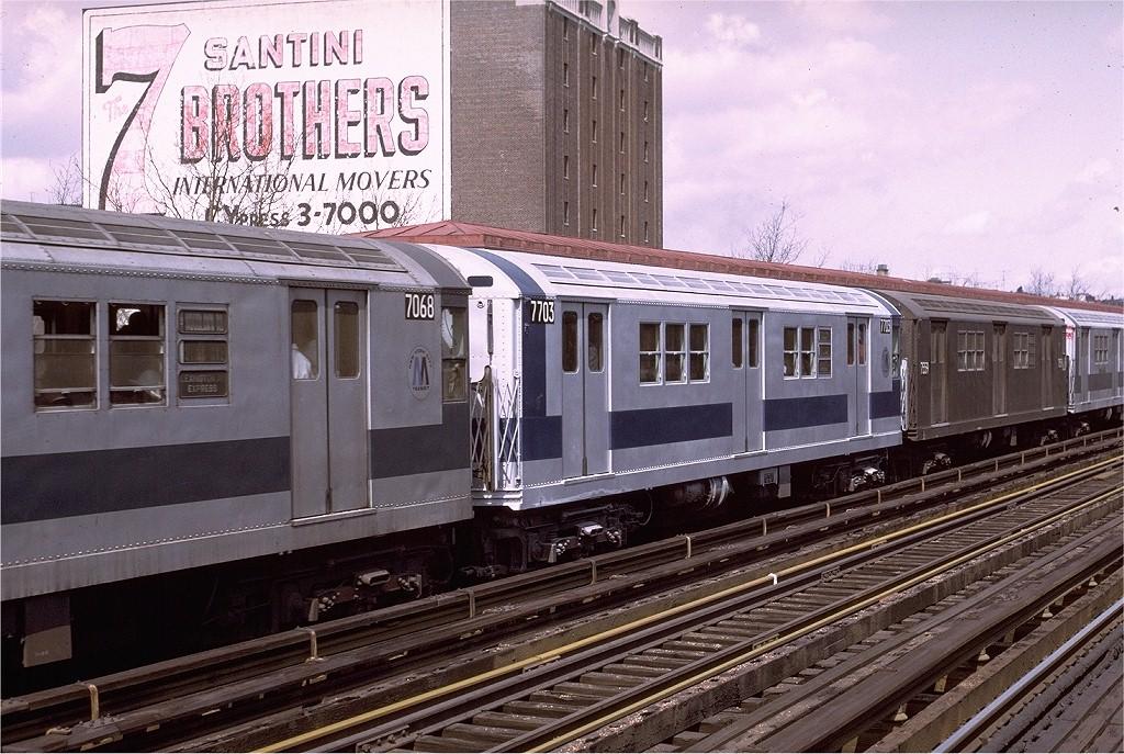 (247k, 1024x687)<br><b>Country:</b> United States<br><b>City:</b> New York<br><b>System:</b> New York City Transit<br><b>Line:</b> IRT Woodlawn Line<br><b>Location:</b> 170th Street <br><b>Route:</b> 4<br><b>Car:</b> R-22 (St. Louis, 1957-58) 7703 <br><b>Photo by:</b> Joe Testagrose<br><b>Date:</b> 4/2/1972<br><b>Viewed (this week/total):</b> 0 / 2350