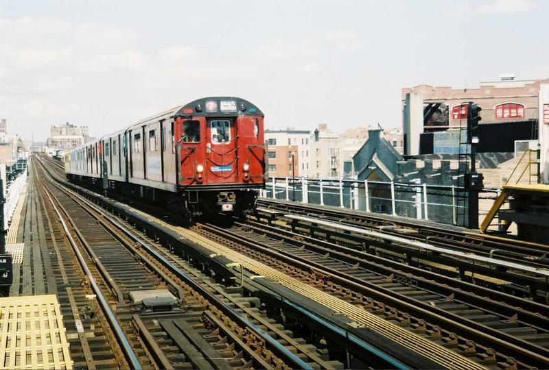 (87k, 800x540)<br><b>Country:</b> United States<br><b>City:</b> New York<br><b>System:</b> New York City Transit<br><b>Line:</b> IRT White Plains Road Line<br><b>Location:</b> Prospect Avenue <br><b>Route:</b> Fan Trip<br><b>Car:</b> R-33 World's Fair (St. Louis, 1963-64) 9327 <br><b>Photo by:</b> Gary Chatterton<br><b>Date:</b> 5/1/2005<br><b>Viewed (this week/total):</b> 2 / 3550