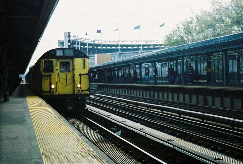 (78k, 800x540)<br><b>Country:</b> United States<br><b>City:</b> New York<br><b>System:</b> New York City Transit<br><b>Line:</b> IRT Woodlawn Line<br><b>Location:</b> 161st Street/River Avenue (Yankee Stadium) <br><b>Route:</b> Fan Trip<br><b>Car:</b> R-22 (St. Louis, 1957-58) 37371 <br><b>Photo by:</b> Gary Chatterton<br><b>Date:</b> 5/1/2005<br><b>Notes:</b> Work Motor 37371 on fantrip.<br><b>Viewed (this week/total):</b> 0 / 3305