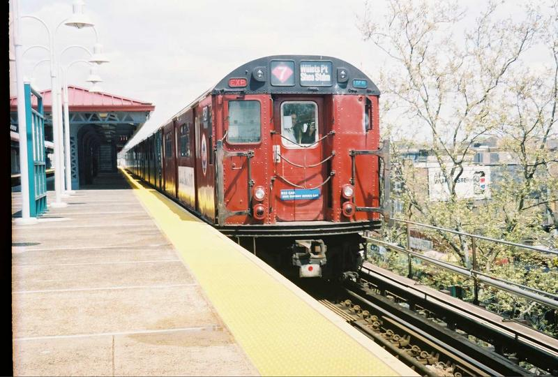 (84k, 800x540)<br><b>Country:</b> United States<br><b>City:</b> New York<br><b>System:</b> New York City Transit<br><b>Line:</b> IRT White Plains Road Line<br><b>Location:</b> Gun Hill Road <br><b>Route:</b> Fan Trip<br><b>Car:</b> R-33 World's Fair (St. Louis, 1963-64) 9327 <br><b>Photo by:</b> Gary Chatterton<br><b>Date:</b> 5/1/2005<br><b>Viewed (this week/total):</b> 0 / 2999