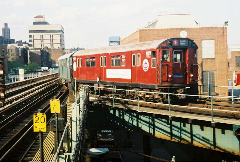(79k, 800x540)<br><b>Country:</b> United States<br><b>City:</b> New York<br><b>System:</b> New York City Transit<br><b>Location:</b> 207th Street Yard<br><b>Route:</b> Fan Trip<br><b>Car:</b> R-33 World's Fair (St. Louis, 1963-64) 9327 <br><b>Photo by:</b> Gary Chatterton<br><b>Date:</b> 5/1/2005<br><b>Viewed (this week/total):</b> 1 / 2932