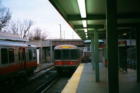 (23k, 460x307)<br><b>Country:</b> United States<br><b>City:</b> Boston, MA<br><b>System:</b> MBTA<br><b>Line:</b> MBTA Red Line<br><b>Location:</b> Ashmont<br><b>Car:</b> MBTA 01800 Series (Bombardier, 1993-1994)  <br><b>Photo by:</b> Daniel DeAmicis<br><b>Date:</b> 10/21/2000<br><b>Viewed (this week/total):</b> 2 / 3534