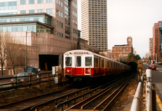 (54k, 520x359)<br><b>Country:</b> United States<br><b>City:</b> Boston, MA<br><b>System:</b> MBTA<br><b>Line:</b> MBTA Red Line<br><b>Location:</b> Longfellow Bridge <br><b>Car:</b> MBTA 01600 Series (Pullman-Standard, 1969-1970)  01603 <br><b>Photo by:</b> Jason R. DeCesare<br><b>Date:</b> 1996<br><b>Viewed (this week/total):</b> 1 / 5917
