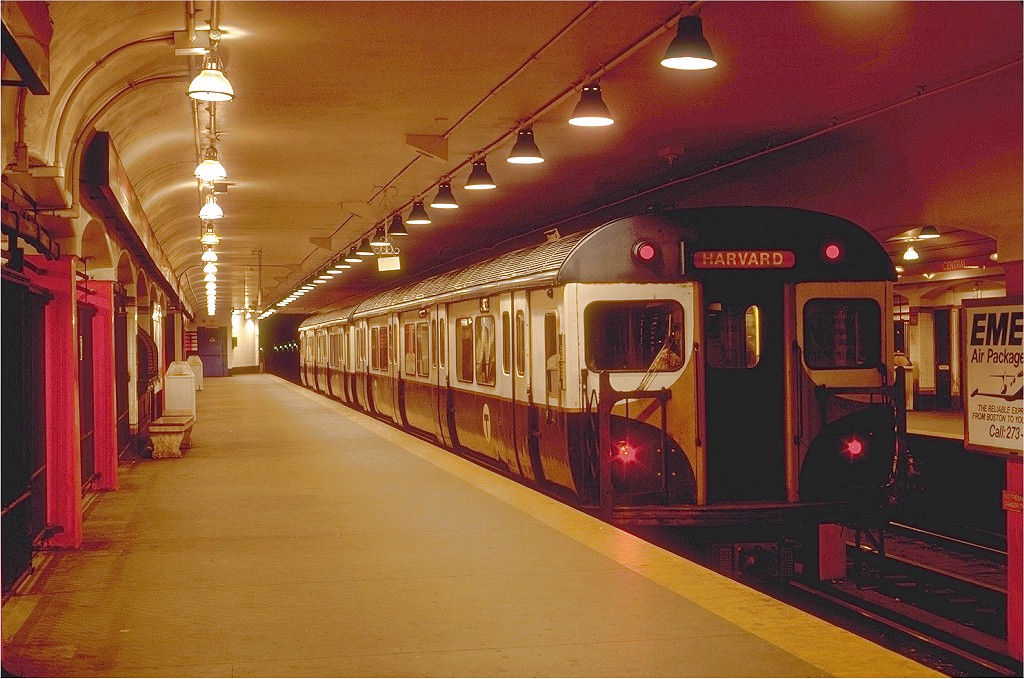 (224k, 1024x679)<br><b>Country:</b> United States<br><b>City:</b> Boston, MA<br><b>System:</b> MBTA<br><b>Line:</b> MBTA Red Line<br><b>Location:</b> Central <br><b>Car:</b> MBTA 01400 Series (Pullman-Standard, 1963)  01432 <br><b>Photo by:</b> Steve Zabel<br><b>Collection of:</b> Joe Testagrose<br><b>Date:</b> 6/10/1980<br><b>Viewed (this week/total):</b> 0 / 6240