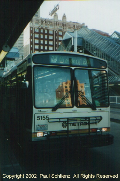 (79k, 392x589)<br><b>Country:</b> United States<br><b>City:</b> Seattle, WA<br><b>System:</b> Metro Transit/King County DOT<br><b>Line:</b> Seattle Metro Tunnel<br><b>Location:</b> Convention Place<br><b>Photo by:</b> Paul Schlienz<br><b>Date:</b> 11/22/2000<br><b>Notes:</b> Breda Dual Mode Articulated 5155 @ Convention Place<br><b>Viewed (this week/total):</b> 3 / 2556