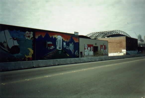 (15k, 583x395)<br><b>Country:</b> United States<br><b>City:</b> Seattle, WA<br><b>System:</b> Metro Transit/King County DOT<br><b>Line:</b> Seattle Metro Tunnel<br><b>Location:</b> South Holgate Street<br><b>Photo by:</b> Paul Schlienz<br><b>Date:</b> 3/5/2001<br><b>Notes:</b> Murals<br><b>Viewed (this week/total):</b> 0 / 2227