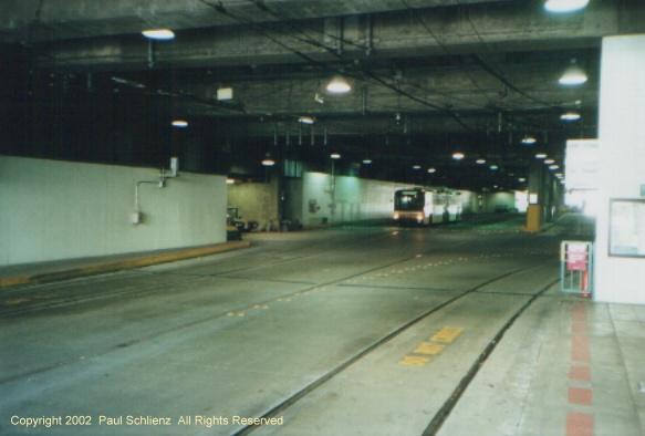 (66k, 583x394)<br><b>Country:</b> United States<br><b>City:</b> Seattle, WA<br><b>System:</b> Metro Transit/King County DOT<br><b>Line:</b> Seattle Metro Tunnel<br><b>Location:</b> International District<br><b>Photo by:</b> Paul Schlienz<br><b>Date:</b> 3/5/2001<br><b>Notes:</b> Breda Dual Mode Articulated<br><b>Viewed (this week/total):</b> 1 / 2488