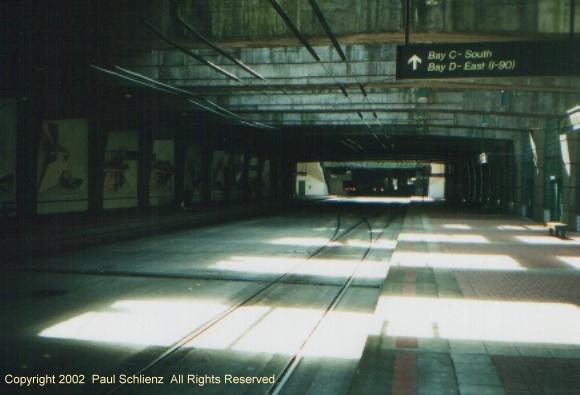 (71k, 580x395)<br><b>Country:</b> United States<br><b>City:</b> Seattle, WA<br><b>System:</b> Metro Transit/King County DOT<br><b>Line:</b> Seattle Metro Tunnel<br><b>Location:</b> International District<br><b>Photo by:</b> Paul Schlienz<br><b>Date:</b> 3/5/2001<br><b>Viewed (this week/total):</b> 1 / 2658