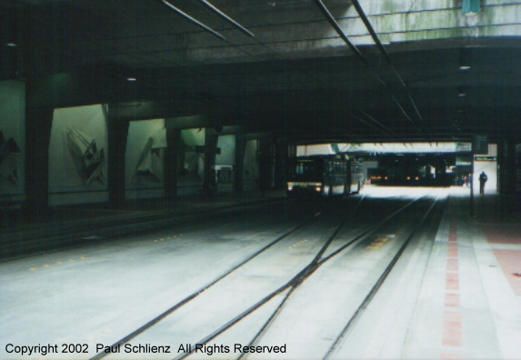 (65k, 573x396)<br><b>Country:</b> United States<br><b>City:</b> Seattle, WA<br><b>System:</b> Metro Transit/King County DOT<br><b>Line:</b> Seattle Metro Tunnel<br><b>Location:</b> International District<br><b>Photo by:</b> Paul Schlienz<br><b>Date:</b> 3/17/2001<br><b>Notes:</b> Breda Dual Mode Articulated<br><b>Viewed (this week/total):</b> 0 / 2943