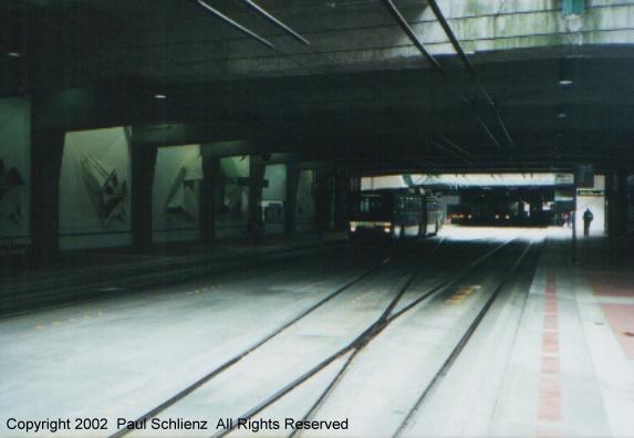 (65k, 573x396)<br><b>Country:</b> United States<br><b>City:</b> Seattle, WA<br><b>System:</b> Metro Transit/King County DOT<br><b>Line:</b> Seattle Metro Tunnel<br><b>Location:</b> International District<br><b>Photo by:</b> Paul Schlienz<br><b>Date:</b> 3/17/2001<br><b>Notes:</b> Breda Dual Mode Articulated<br><b>Viewed (this week/total):</b> 1 / 2931