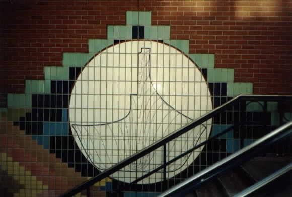 (26k, 580x392)<br><b>Country:</b> United States<br><b>City:</b> Seattle, WA<br><b>System:</b> Metro Transit/King County DOT<br><b>Line:</b> Seattle Metro Tunnel<br><b>Location:</b> Pioneer Square <br><b>Photo by:</b> Paul Schlienz<br><b>Date:</b> 3/5/2001<br><b>Notes:</b> Tile mural at southeast entrance.<br><b>Viewed (this week/total):</b> 0 / 1788