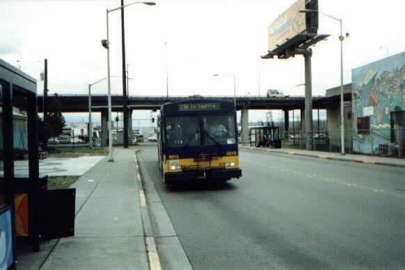 (20k, 582x389)<br><b>Country:</b> United States<br><b>City:</b> Seattle, WA<br><b>System:</b> Metro Transit/King County DOT<br><b>Line:</b> Seattle Metro Tunnel<br><b>Location:</b> South Spokane Street<br><b>Photo by:</b> Paul Schlienz<br><b>Date:</b> 3/17/2001<br><b>Viewed (this week/total):</b> 0 / 3488