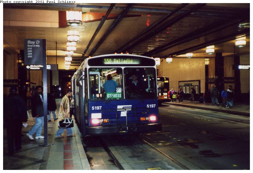 (77k, 820x562)<br><b>Country:</b> United States<br><b>City:</b> Seattle, WA<br><b>System:</b> Metro Transit/King County DOT<br><b>Line:</b> Seattle Metro Tunnel<br><b>Location:</b> Westlake<br><b>Photo by:</b> Paul Schlienz<br><b>Date:</b> 3/17/2001<br><b>Viewed (this week/total):</b> 5 / 3886