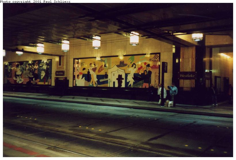 (66k, 820x557)<br><b>Country:</b> United States<br><b>City:</b> Seattle, WA<br><b>System:</b> Metro Transit/King County DOT<br><b>Line:</b> Seattle Metro Tunnel<br><b>Location:</b> Westlake<br><b>Photo by:</b> Paul Schlienz<br><b>Date:</b> 3/5/2001<br><b>Viewed (this week/total):</b> 1 / 1970