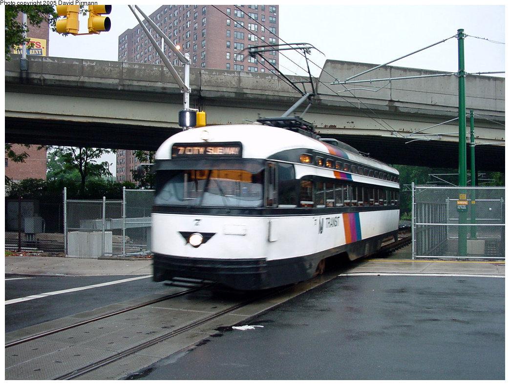 (234k, 1044x788)<br><b>Country:</b> United States<br><b>City:</b> Newark, NJ<br><b>System:</b> Newark City Subway<br><b>Line:</b> 7-City Subway<br><b>Location:</b> Orange Street <br><b>Car:</b> NJTransit/PSCT PCC (Ex-Twin City) (St. Louis Car Co., 1946-1947) 7 <br><b>Photo by:</b> David Pirmann<br><b>Date:</b> 8/23/2001<br><b>Viewed (this week/total):</b> 0 / 3690