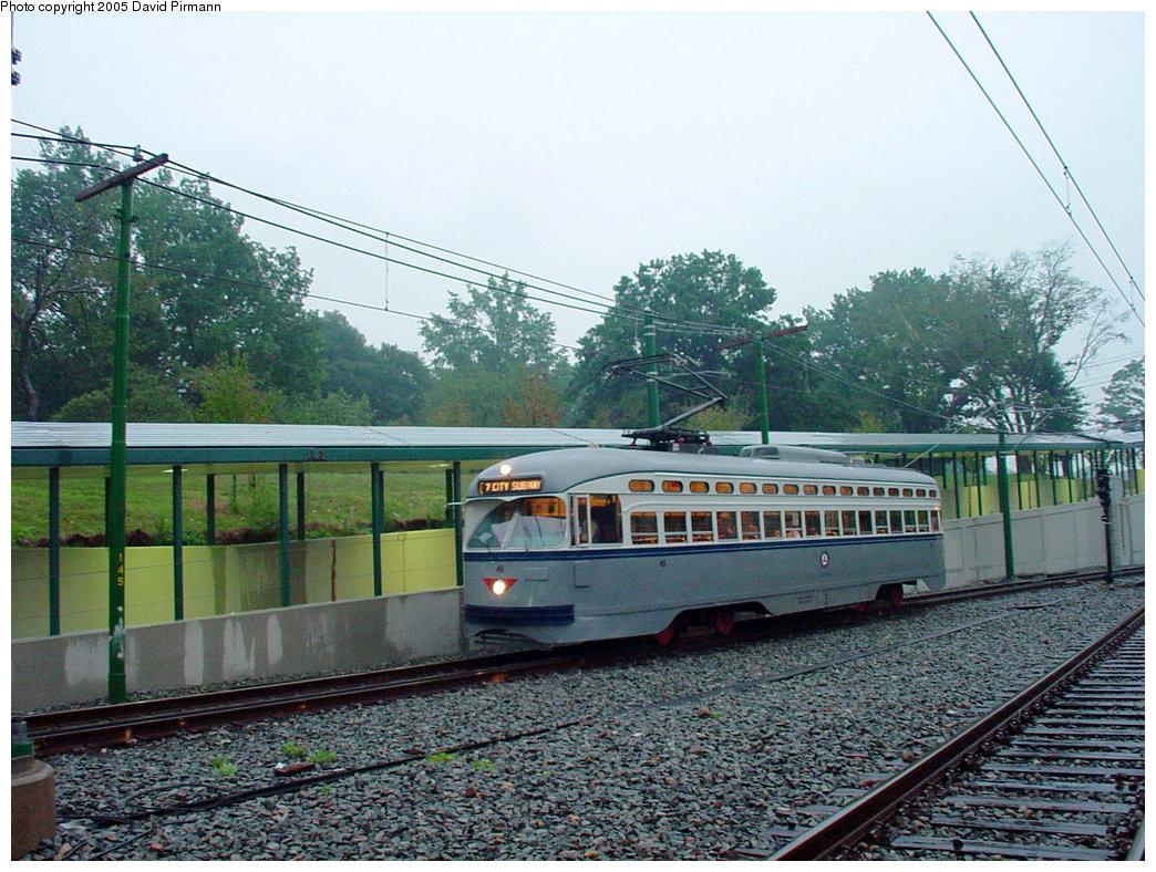 (273k, 1044x788)<br><b>Country:</b> United States<br><b>City:</b> Newark, NJ<br><b>System:</b> Newark City Subway<br><b>Line:</b> 7-City Subway<br><b>Location:</b> Branch Brook Park <br><b>Car:</b> NJTransit/PSCT PCC (Ex-Twin City) (St. Louis Car Co., 1946-1947) 6 <br><b>Photo by:</b> David Pirmann<br><b>Date:</b> 8/23/2001<br><b>Viewed (this week/total):</b> 1 / 2682