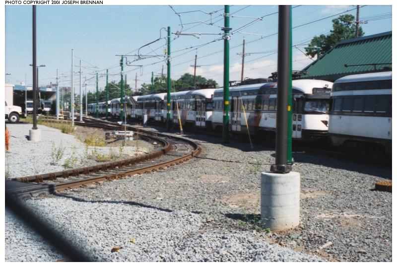 (140k, 800x538)<br><b>Country:</b> United States<br><b>City:</b> Bloomfield, NJ<br><b>System:</b> Newark City Subway<br><b>Line:</b> 7-City Subway<br><b>Location:</b> Grove Street <br><b>Car:</b> NJTransit/PSCT PCC (Ex-Twin City) (St. Louis Car Co., 1946-1947)  <br><b>Photo by:</b> Joe Brennan<br><b>Date:</b> 8/25/2001<br><b>Notes:</b> PCCs stored at Grove Street/Bloomfield Station<br><b>Viewed (this week/total):</b> 3 / 4783