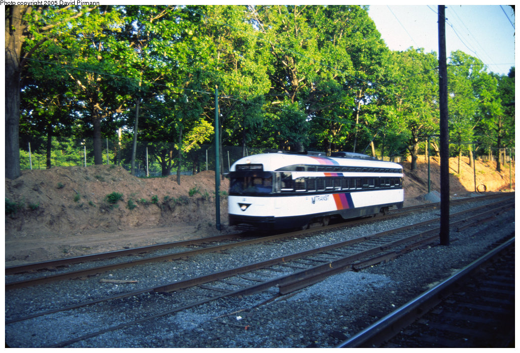 (318k, 1044x709)<br><b>Country:</b> United States<br><b>City:</b> Newark, NJ<br><b>System:</b> Newark City Subway<br><b>Line:</b> 7-City Subway<br><b>Location:</b> Franklin Avenue <br><b>Car:</b> NJTransit/PSCT PCC (Ex-Twin City) (St. Louis Car Co., 1946-1947) 2 <br><b>Photo by:</b> David Pirmann<br><b>Date:</b> 6/4/1999<br><b>Viewed (this week/total):</b> 2 / 3026