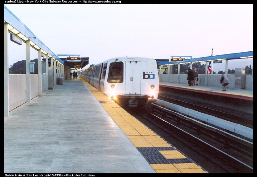(81k, 824x569)<br><b>Country:</b> United States<br><b>City:</b> San Francisco/Bay Area, CA<br><b>System:</b> BART<br><b>Location:</b> San Leandro<br><b>Photo by:</b> Eric Haas<br><b>Date:</b> 5/13/1999<br><b>Viewed (this week/total):</b> 0 / 2434