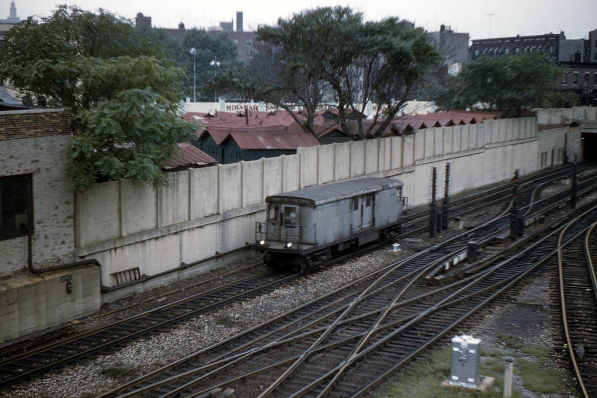 (530k, 1024x682)<br><b>Country:</b> United States<br><b>City:</b> New York<br><b>System:</b> New York City Transit<br><b>Location:</b> 207th Street Yard<br><b>Car:</b> BMT Signal Supply Car (Diff. Car Co., 1927)  5003 <br><b>Collection of:</b> David Pirmann<br><b>Date:</b> 8/13/1960<br><b>Viewed (this week/total):</b> 1 / 4968