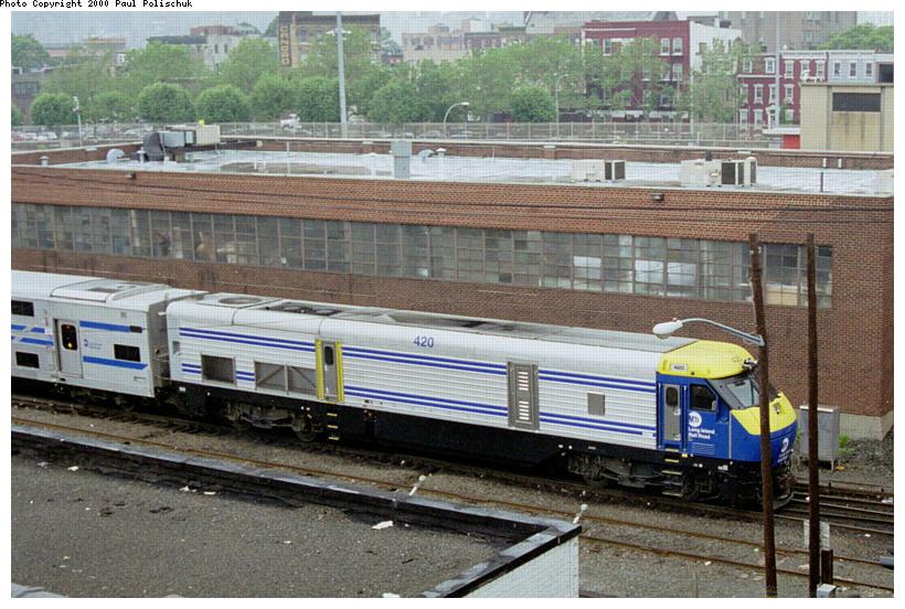 (114k, 820x552)<br><b>Country:</b> United States<br><b>City:</b> New York<br><b>System:</b> Long Island Rail Road<br><b>Line:</b> LIRR Long Island City<br><b>Location:</b> Long Island City <br><b>Car:</b> LIRR GM DE30AC (Diesel)  420 <br><b>Photo by:</b> Paul Polischuk<br><b>Date:</b> 5/2000<br><b>Viewed (this week/total):</b> 0 / 3824