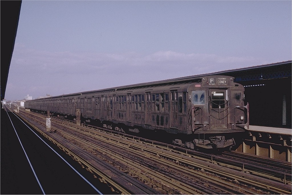 (209k, 1024x683)<br><b>Country:</b> United States<br><b>City:</b> New York<br><b>System:</b> New York City Transit<br><b>Line:</b> BMT Culver Line<br><b>Location:</b> Avenue U <br><b>Route:</b> F<br><b>Car:</b> R-6-3 (American Car & Foundry, 1935)  1144 <br><b>Photo by:</b> Joe Testagrose<br><b>Date:</b> 1/23/1971<br><b>Viewed (this week/total):</b> 1 / 6867