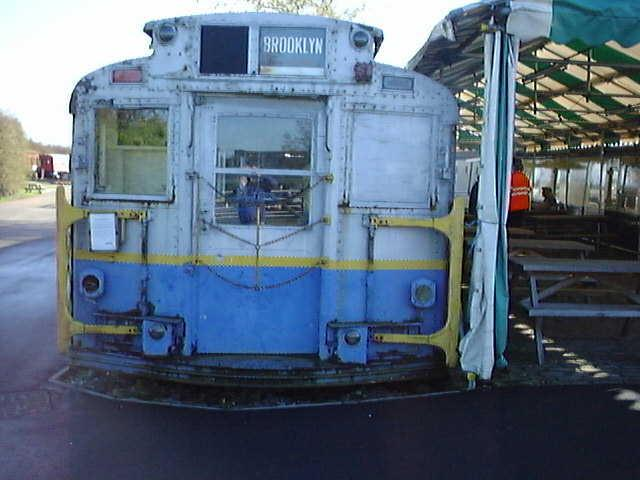 (55k, 640x480)<br><b>Country:</b> United States<br><b>City:</b> New York<br><b>System:</b> New York City Transit<br><b>Location:</b> Buckinghamshire Railway Centre<br><b>Car:</b> R-6-3 (American Car & Foundry, 1935) 1144 <br><b>Photo by:</b> Terry Walden<br><b>Collection of:</b> Phil Marsh<br><b>Date:</b> 1998<br><b>Notes:</b> Buckinghamshire Railway Centre-England. Used as a cafeteria for their museum.<br><b>Viewed (this week/total):</b> 0 / 10092