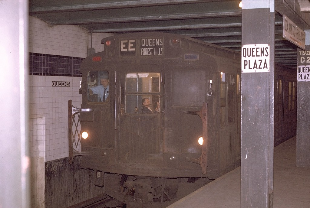 (193k, 1024x688)<br><b>Country:</b> United States<br><b>City:</b> New York<br><b>System:</b> New York City Transit<br><b>Line:</b> IND Queens Boulevard Line<br><b>Location:</b> Queens Plaza <br><b>Route:</b> EE<br><b>Car:</b> R-6-3 (American Car & Foundry, 1935)  1144 <br><b>Photo by:</b> Joe Testagrose<br><b>Date:</b> 5/12/1970<br><b>Viewed (this week/total):</b> 0 / 3587
