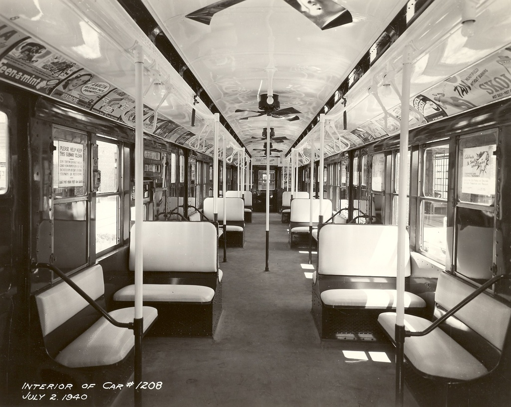 (300k, 1024x816)<br><b>Country:</b> United States<br><b>City:</b> New York<br><b>System:</b> New York City Transit<br><b>Car:</b> R-6-2 (Pullman, 1936) 1208 <br><b>Collection of:</b> Ed Watson/Arthur Lonto Collection<br><b>Date:</b> 7/2/1940<br><b>Viewed (this week/total):</b> 4 / 7050