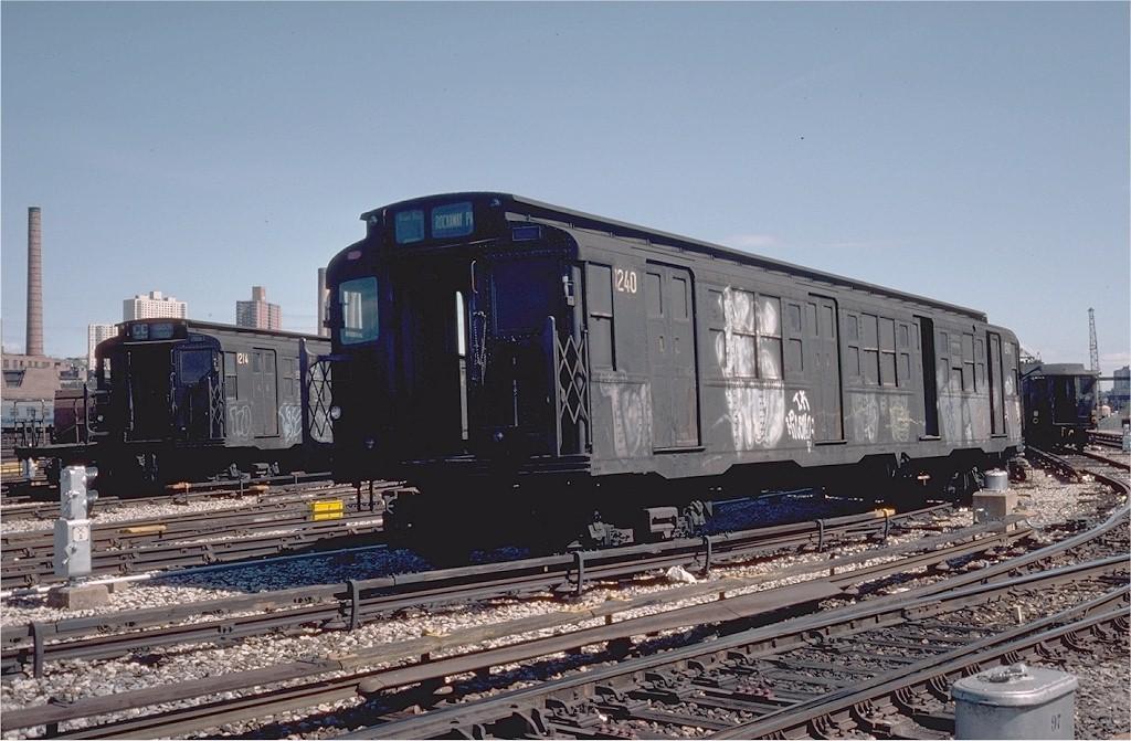 (198k, 1024x671)<br><b>Country:</b> United States<br><b>City:</b> New York<br><b>System:</b> New York City Transit<br><b>Location:</b> 207th Street Yard<br><b>Car:</b> R-6-2 (Pullman, 1936)  1240 <br><b>Photo by:</b> Steve Zabel<br><b>Collection of:</b> Joe Testagrose<br><b>Date:</b> 4/1976<br><b>Viewed (this week/total):</b> 7 / 3329