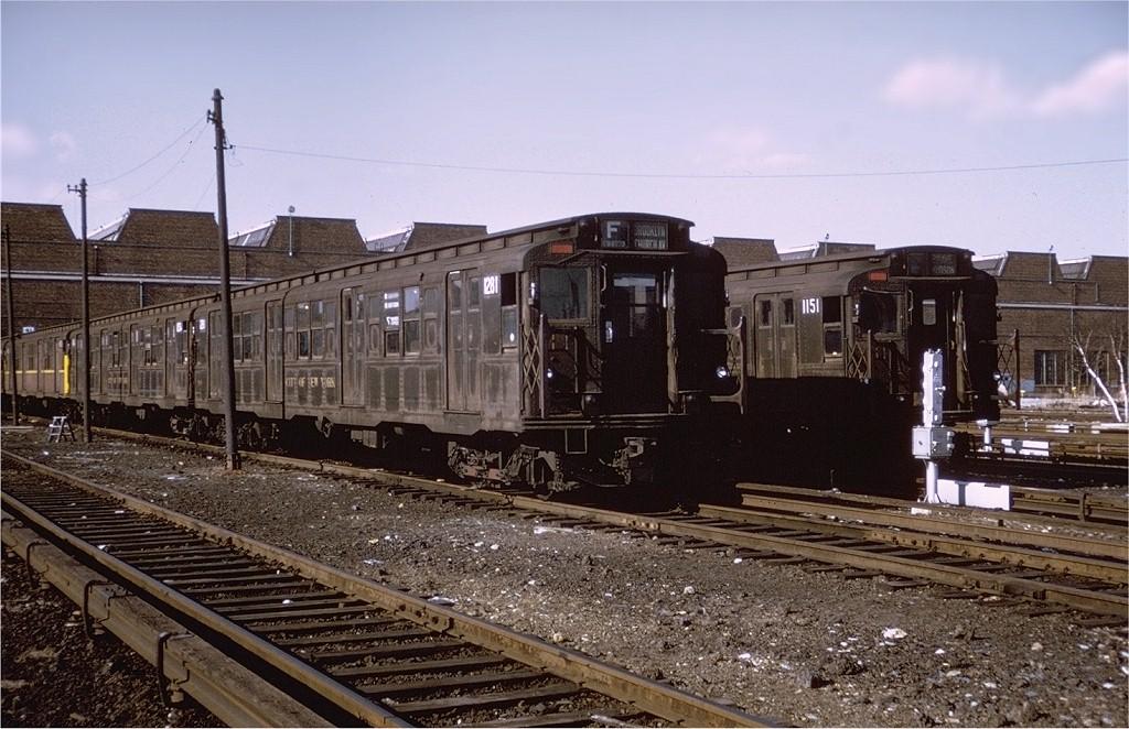 (214k, 1024x662)<br><b>Country:</b> United States<br><b>City:</b> New York<br><b>System:</b> New York City Transit<br><b>Location:</b> Coney Island Yard<br><b>Car:</b> R-6-2 (Pullman, 1936)  1281 <br><b>Collection of:</b> Steve Zabel<br><b>Notes:</b> 4/9/1972<br><b>Viewed (this week/total):</b> 2 / 2912