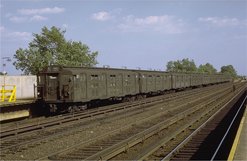 (215k, 1024x668)<br><b>Country:</b> United States<br><b>City:</b> New York<br><b>System:</b> New York City Transit<br><b>Line:</b> IND Rockaway<br><b>Location:</b> Aqueduct/North Conduit Avenue <br><b>Route:</b> E<br><b>Car:</b> R-6-1 (Pressed Steel, 1936)  1311 <br><b>Photo by:</b> Joe Testagrose<br><b>Date:</b> 7/7/1971<br><b>Viewed (this week/total):</b> 4 / 3354